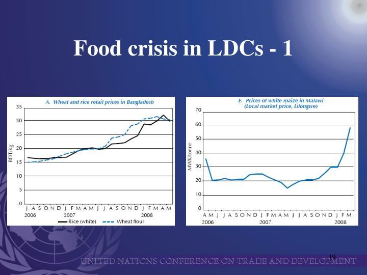 Food crisis in LDCs - 1