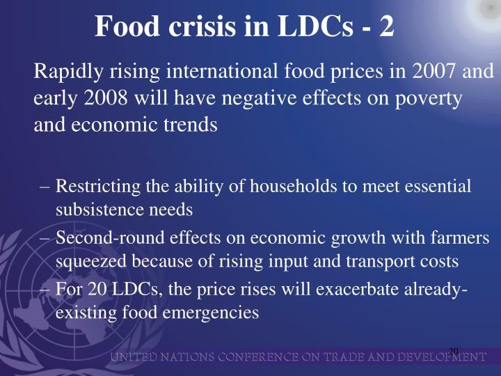 Food crisis in LDCs - 2