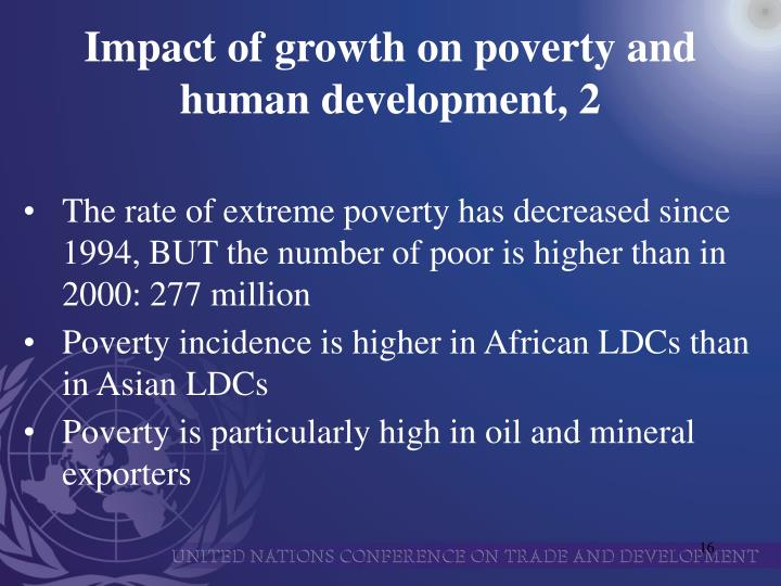 Impact of growth on poverty and human development, 2