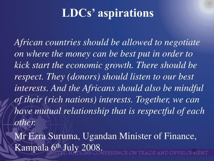LDCs' aspirations