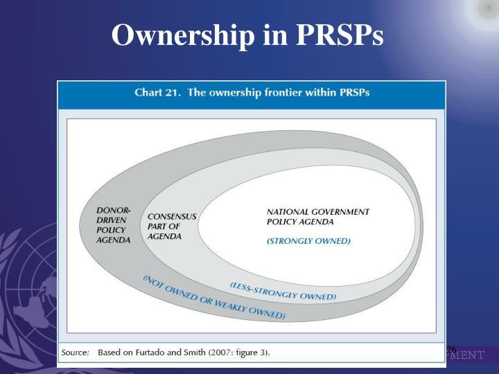 Ownership in PRSPs