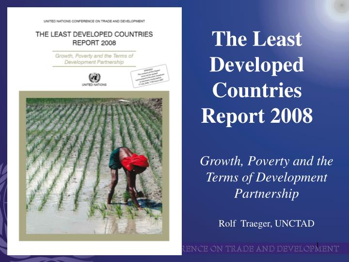 The least developed countries report 2008