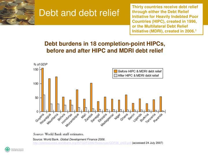 Debt and debt relief