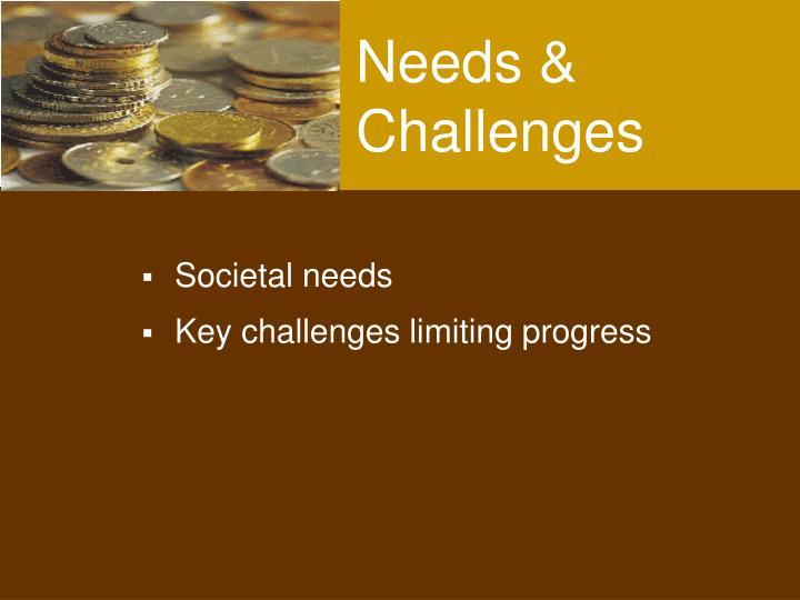 Needs & Challenges