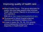 improving quality of health care