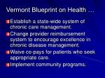 vermont blueprint on health