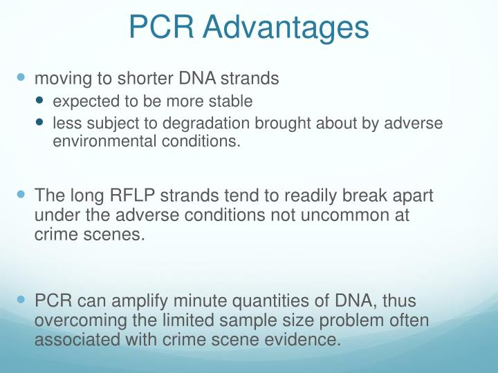 PCR Advantages