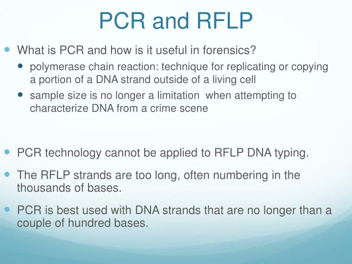 PCR and RFLP