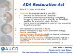 ada restoration act
