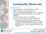community choice act