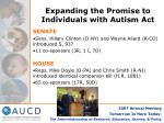 expanding the promise to individuals with autism act