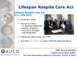 lifespan respite care act