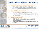 new dental bills in the works