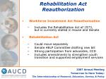 rehabilitation act reauthorization