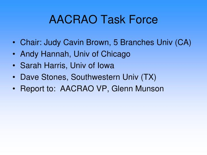 AACRAO Task Force