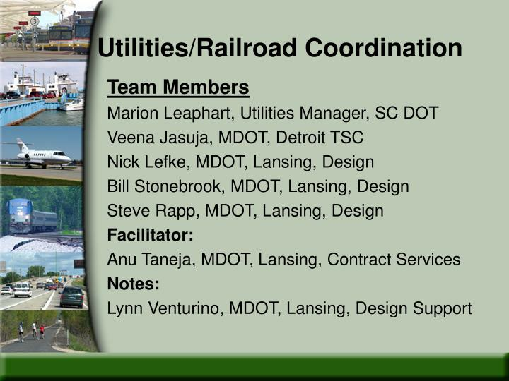 Utilities/Railroad Coordination
