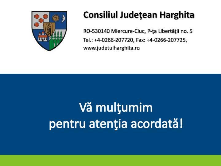 Consiliul Judeţean Harghita