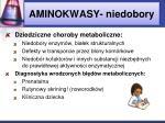 aminokwasy niedobory