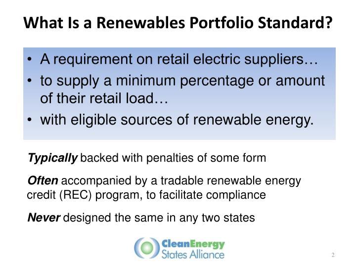 What is a renewables portfolio standard