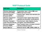 wap protocol suite