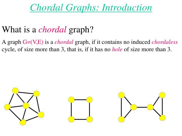 Chordal Graphs: Introduction