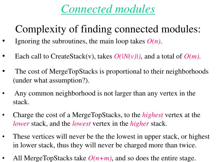 Connected modules