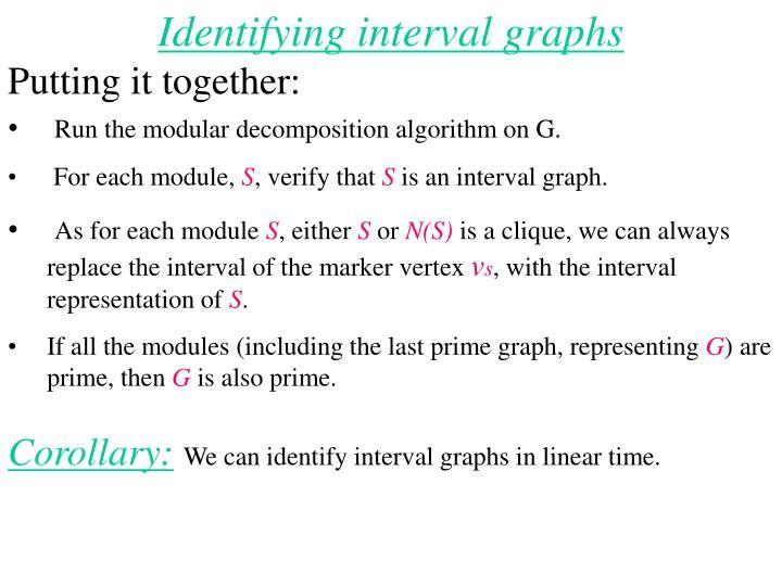 Identifying interval graphs