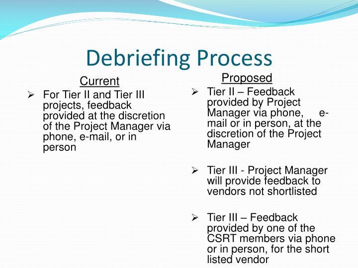 Debriefing Process