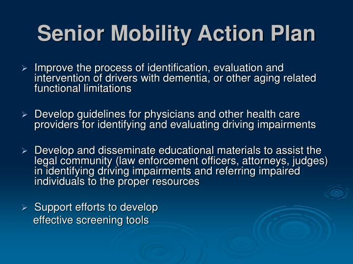 Senior Mobility Action Plan