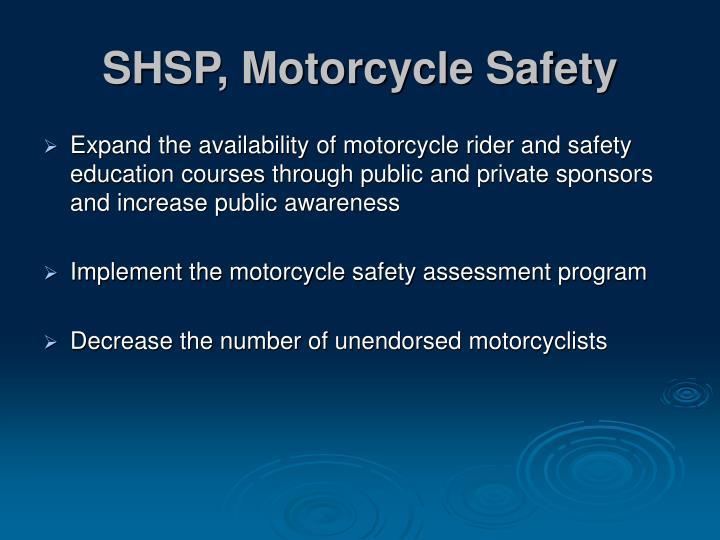 SHSP, Motorcycle Safety