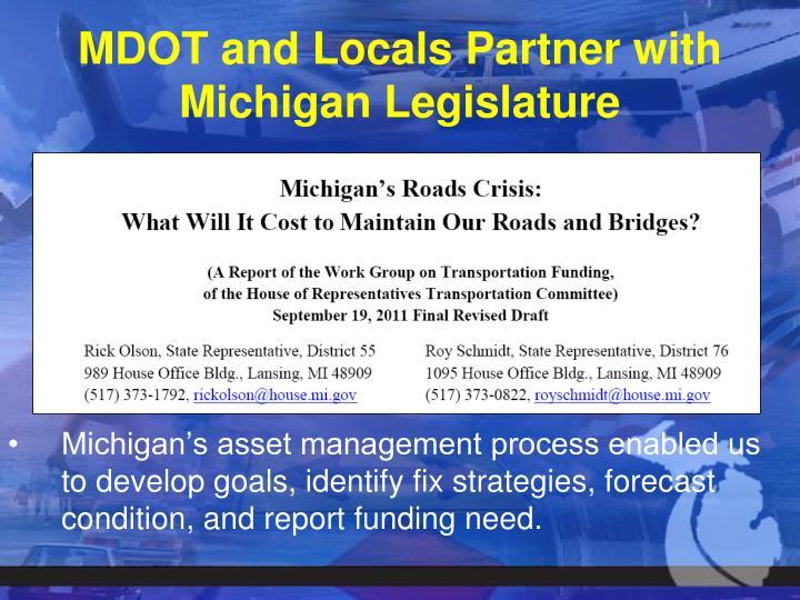 MDOT and Locals Partner with Michigan Legislature