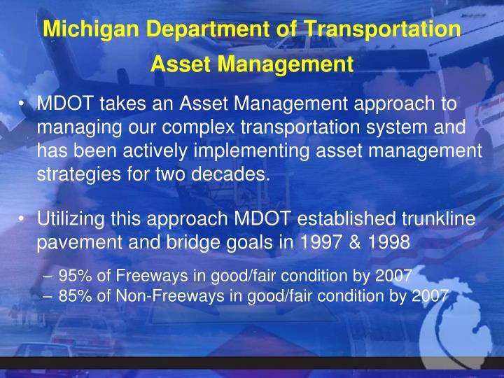 Michigan department of transportation asset management
