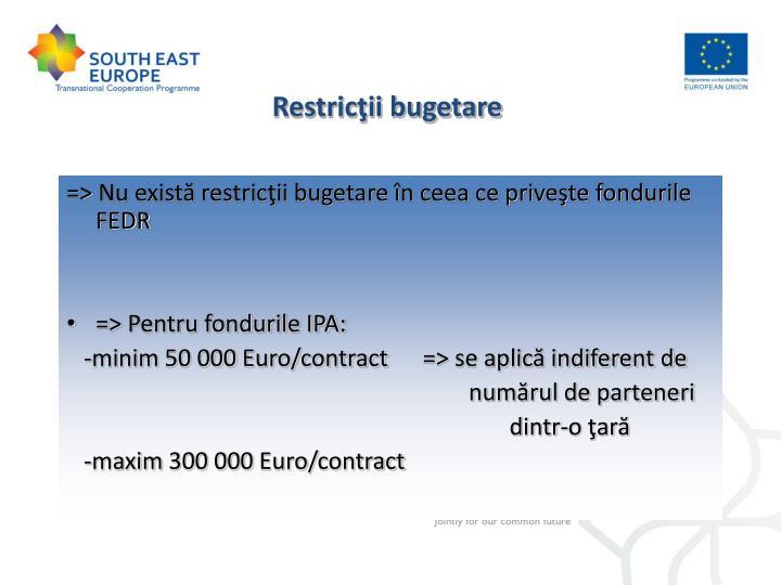 Restricţii bugetare