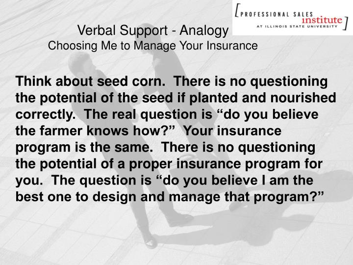 Verbal Support - Analogy