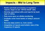 impacts mid to long term