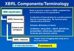 xbrl components terminology
