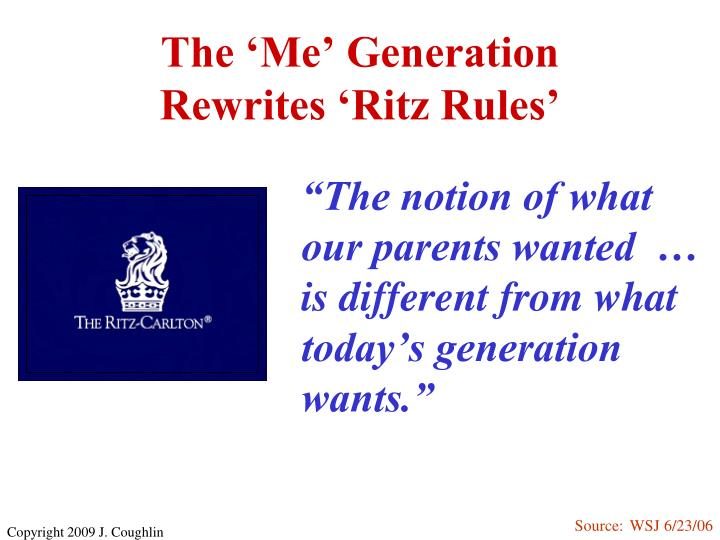 The me generation rewrites ritz rules