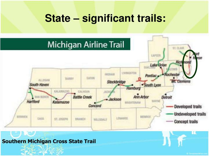State – significant trails:
