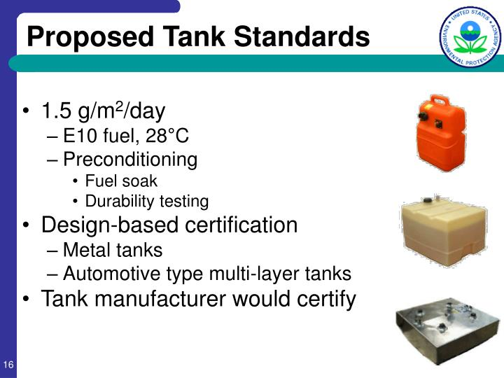 Proposed Tank Standards