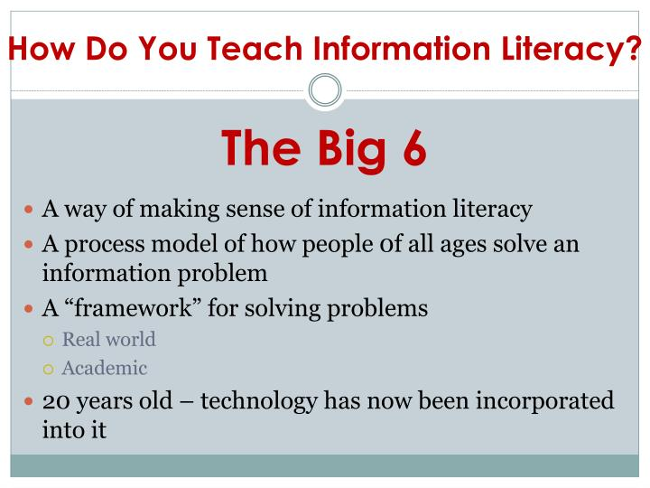How Do You Teach Information Literacy?