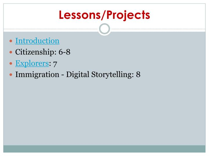 Lessons/Projects