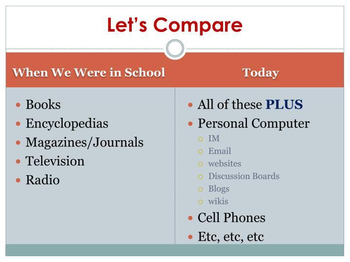 Let s compare
