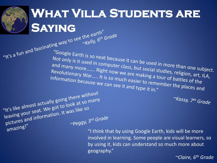 What Villa Students are Saying