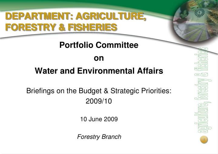 Department agriculture forestry fisheries