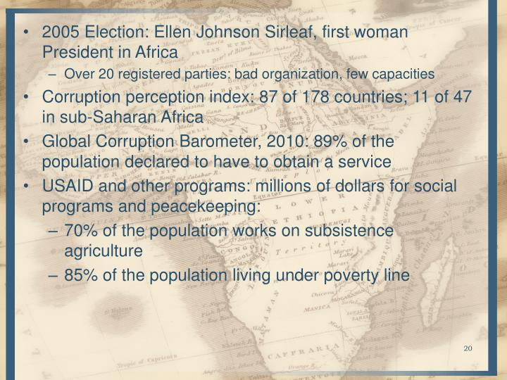 2005 Election: Ellen Johnson Sirleaf, first woman President in Africa