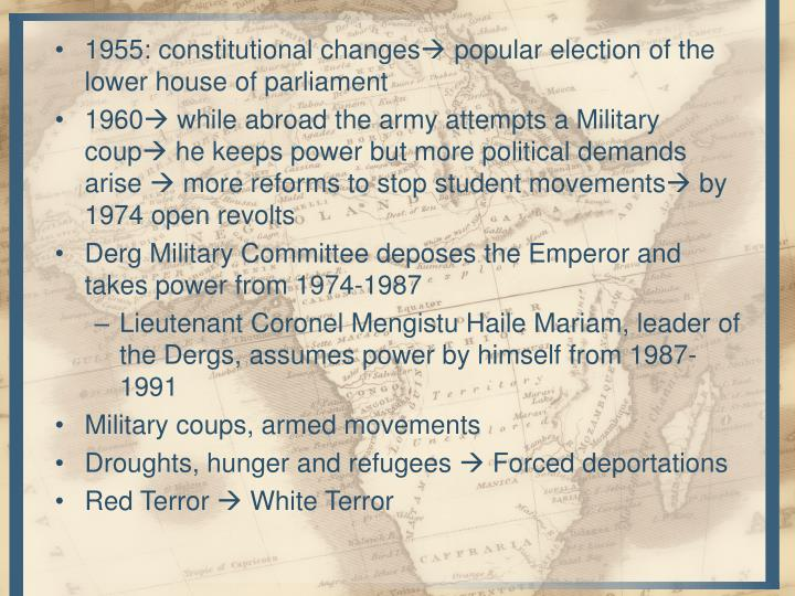 1955: constitutional changes