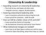 citizenship leadership