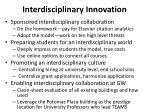 interdisciplinary innovation