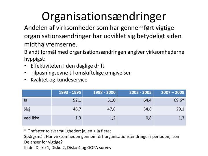Organisations ndringer