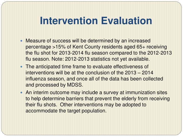 Intervention Evaluation